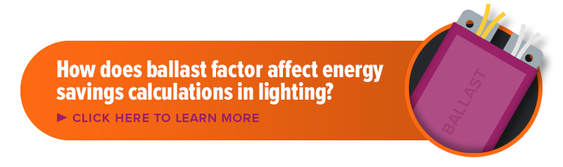 About how ballast factor affects energy savings calculations in lighting