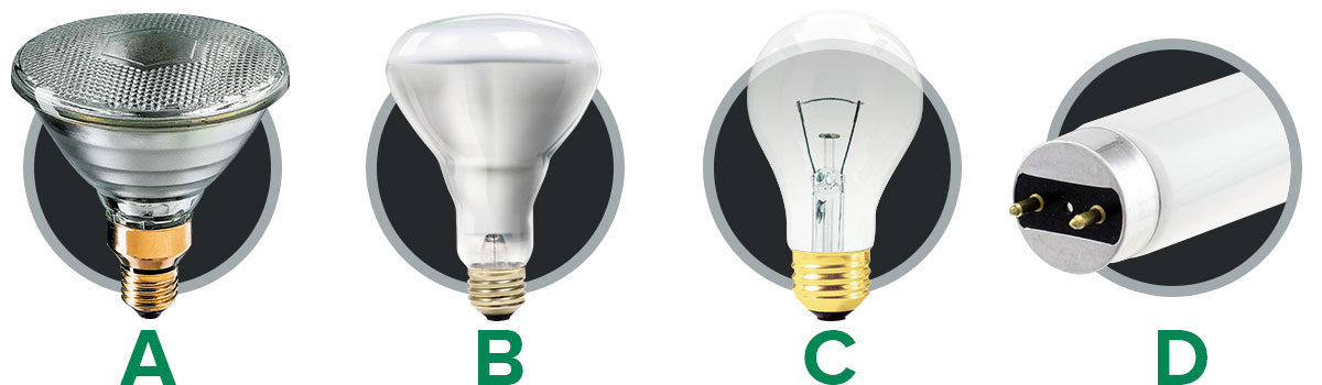 Energy savings lighting comparison