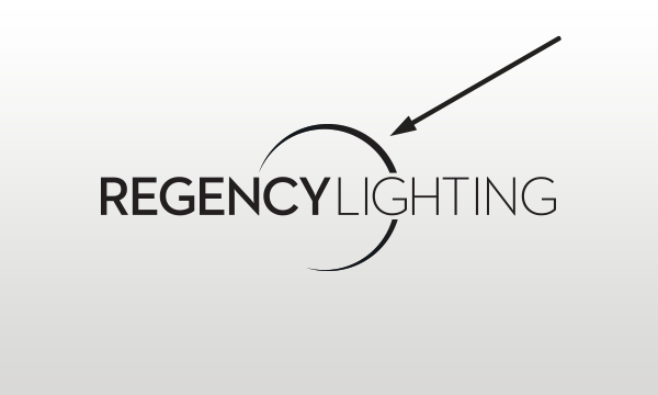 Regency Lighting Logo with solid crescent.
