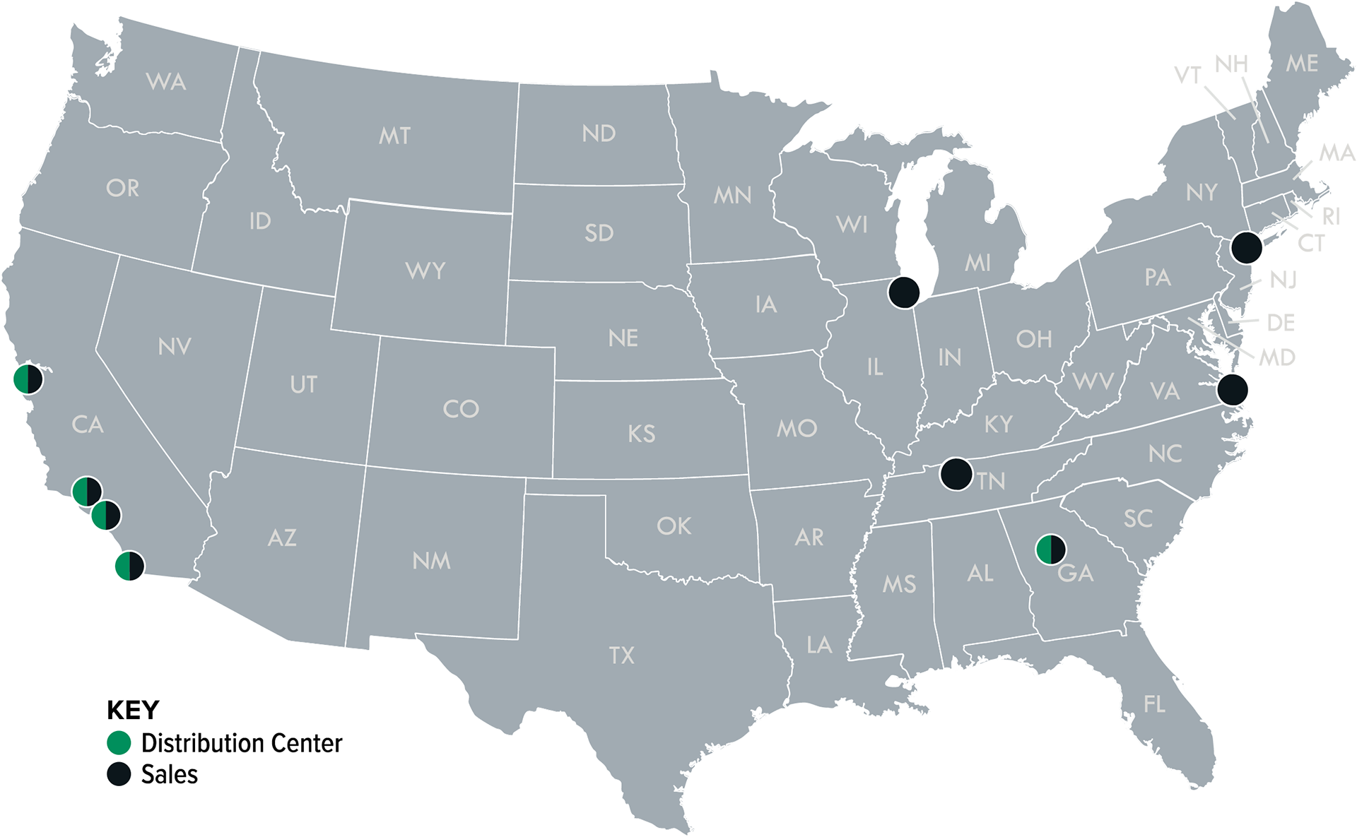 Office Locations And Contact Info For Helpful Lighting Experts - Atlanta on the us map